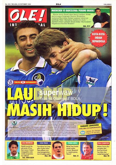 UEFA WINNERS CUP 1998 CHELSEA VS KOPENHAGEN LAUDRUP