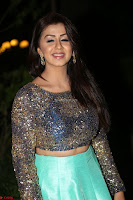 Nikki Galrani in Green Skirt  Top at Marakathamani music launch ~  Exclusive (99).JPG
