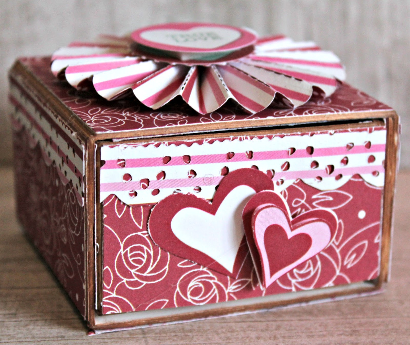 Forever and Always Sweetheart Valentine Candy Box and Flap Card