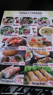 vina trang vietnamese cuisine menu 1