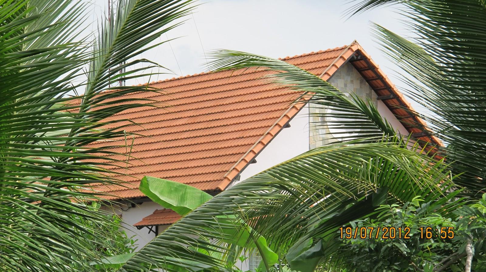Ngói 10v/m2 Đồng Nai mới ra nhưng nhiều người thích, lợp mái biệt thự đẹp