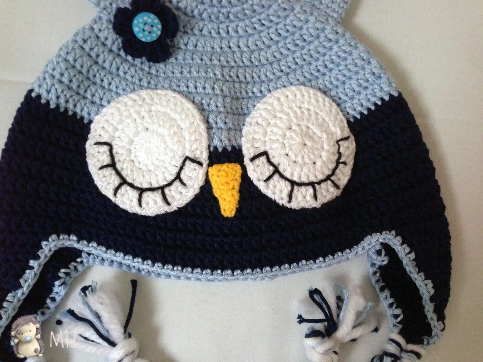 Gorros búho a crochet