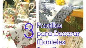 3 Puntillas para Decorar Manteles y Servilletas / Patrones