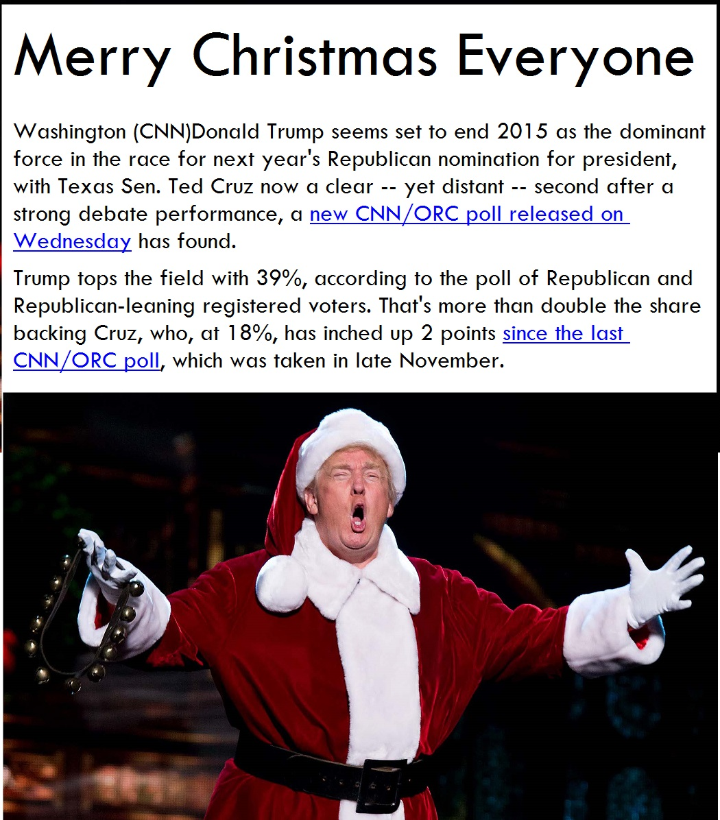 Trump Christmas01 letters from the gulag massive media psy opts destroy trump!,Trump Christmas Meme