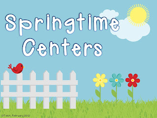 Spring Centers- hands on ELA and math activities with FREEBIES