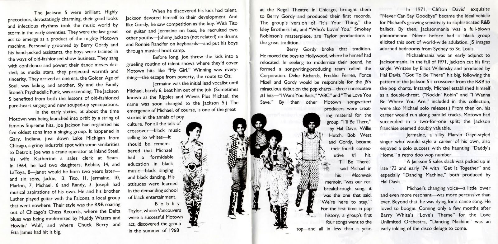 Ultimate Collection Jackson 5: Encartes Pop: Encarte: The Jackson 5