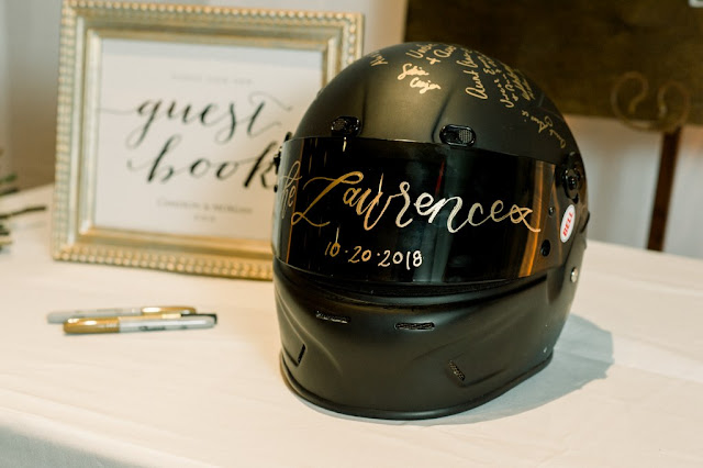 wedding props race car driver helmet