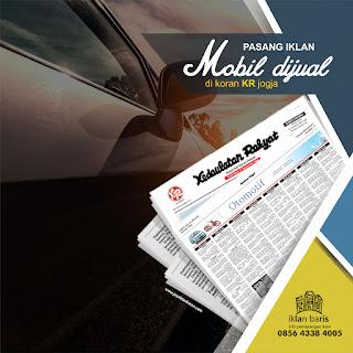 pasang iklan Mobil Dijual di koran KR Jogja