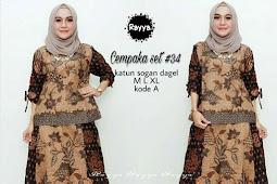 38 Model Gamis Batik Pesta Modern Muslim 2019