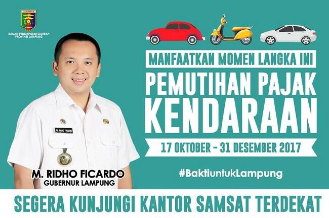 Pemutihan Pajak Kendaraan Lampung 2017
