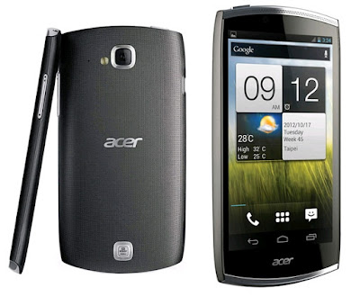 Acer CloudMobile S500 - LAUNCH Announced 2012, February DISPLAY Type IPS LCD capacitive touchscreen, 16M colors Size 4.3 inches (~61.0% screen-to-body ratio) Resolution 720 x 1280 pixels (~342 ppi pixel density) Multitouch Yes BODY Dimensions 127 x 65.8 x 9.9 mm (5.0 x 2.59 x 0.39 in) Weight 122 (4.30 oz) SIM Micro-SIM PLATFORM OS Android OS, v4.0 (Ice Cream Sandwich) CPU Dual-core 1.5 GHz Krait Chipset Qualcomm MSM8260A Snapdragon S4 Plus GPU Adreno 225 MEMORY Card slot microSD, up to 32 GB (dedicated slot) Internal 8 GB, 1 GB RAM CAMERA Primary 8 MP, autofocus, LED flash Secondary HD Features Geo-tagging, touch focus, HDR Video 1080p NETWORK Technology GSM / HSPA 2G bands GSM 850 / 900 / 1800 / 1900 3G bands HSDPA 900 / 1900 / 2100 Speed HSPA GPRS Yes EDGE Yes COMMS WLAN Wi-Fi 802.11 b/g/n, DLNA, hotspot NFC Yes GPS Yes, with A-GPS USB microUSB v2.0 Radio FM radio Bluetooth v4.0, A2DP FEATURES Sensors Accelerometer, proximity, compass Messaging SMS (threaded view), MMS, Email, Push Email Browser HTML5, Adobe Flash Java No SOUND Alert types Vibration; MP3, WAV ringtones Loudspeaker Yes 3.5mm jack Yes  - Dolby Mobile  - Active noise cancellation with dedicated mic BATTERY  Removable Li-Ion 1460 mAh battery Stand-by  Talk time  Music play  MISC Colors Black  - CloudMobile cloud service - MP3/WAV/WMA/eAAC+ player - DivX/XviD/MP4/H.264 player - Organizer - Document viewer - Voice memo/dial/commands - Predictive text input