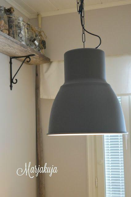 Ikean Hektar lamppu keittiöön  www marjakuja fi  Marika`s blogi
