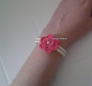 pulseira, pulseira crochê, pulseira flor crochê, flor crochê