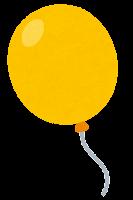 風船のイラスト(黄色)
