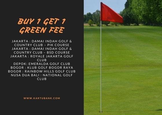 Gambar Daftar Lapangan program promo Mandiri Card Golf Signature