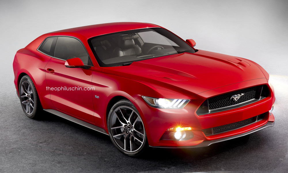 2017 Ford Mustang Shooting Hatch Render