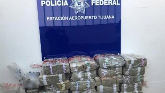 Incautan 10 millones de dólares en efectivo en un aeropuerto del norte de México