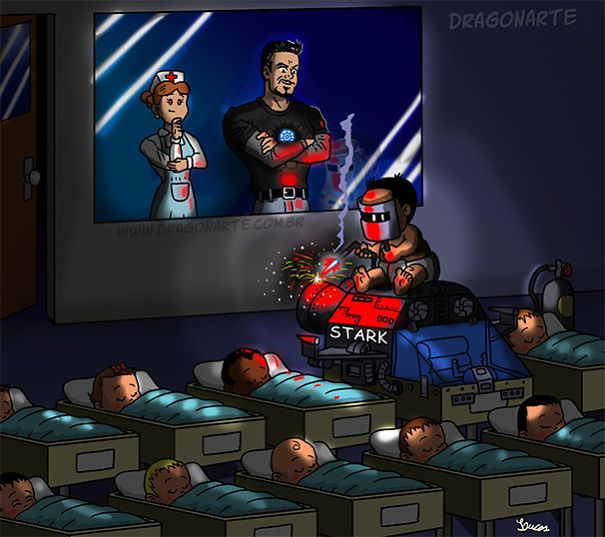 Iron Man's Baby,ابطال خارقون مع أطفالهم