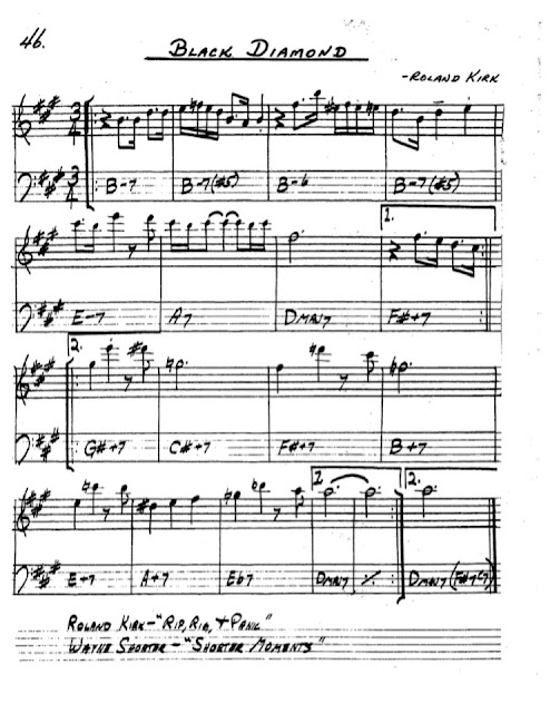 Partitura Saxofón Roland Kirk