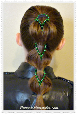 Pull through bubble braid with beads, video instructions.