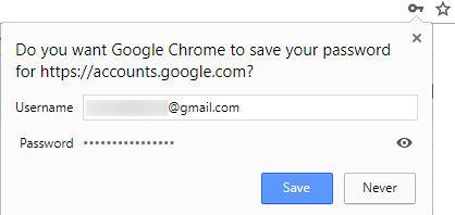Menyimpan password di browser