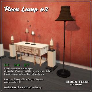 [Black Tulip] Mesh - Floor Lamp #3