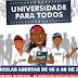 FILADÉLFIA: MATRÍCULAS ABERTAS PARA O PROGRAMA UNIVERSIDADE PARA TODOS
