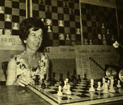 María Luisa Gutiérrez, Campeona de Ajedrez de España 1957, 1959, 1965 y 1967