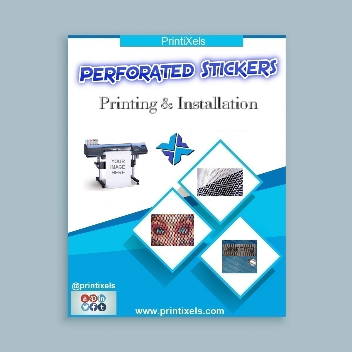 Perforated Sticker Printing & Installation