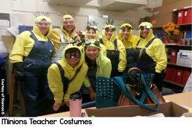 Elementary teachers dress up to enhance student engagement.