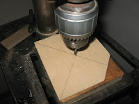 Drilling the 1/4 inch hole