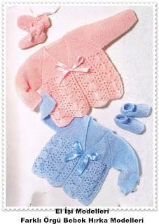 Örgü Bebek Hırka Modelleri 4