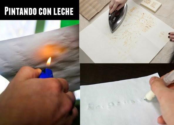 pintar, leche, juego, pintar con leche, magia, manualidades, infantil,