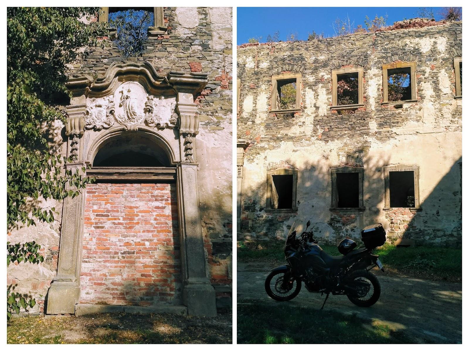ruiny klasztoru w Winnicy koło Legnicy