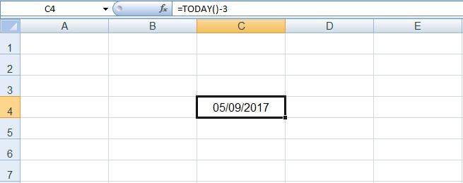 دالة التاريخ في Excel