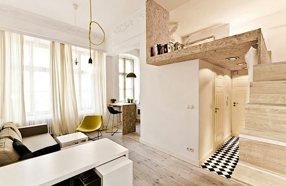 Nice spatial space division, for a small apartment