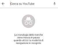Attivare la modalità incognito nell'app Youtube