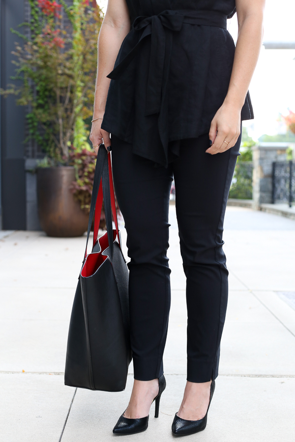 Naturally Me, Old Navy Tote, Black Tote for Fall, All Black Outfit For Fall, Who What Wear x Target, Black Dress Pants, Black Vest