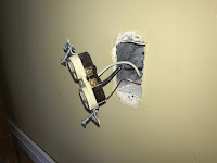 Outlet removed from the wall