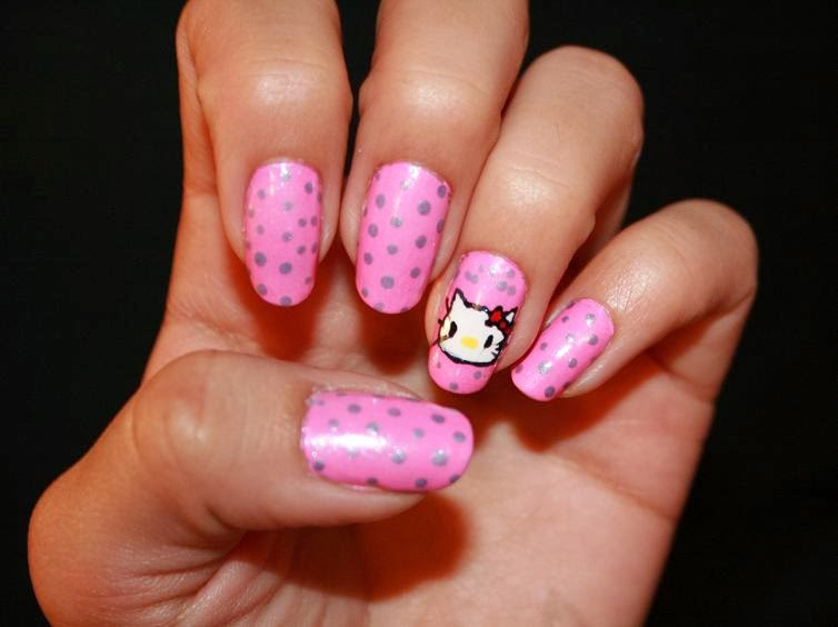 One Hundred Styles: Hello Kitty Nail Art Designs for Short ...