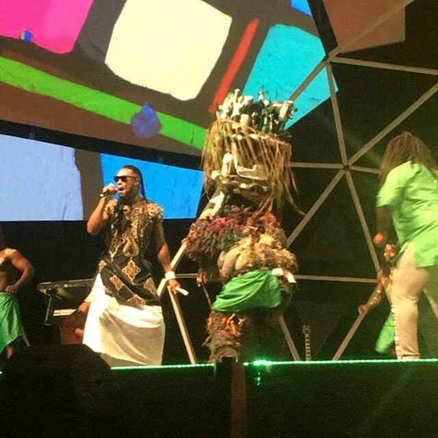 Flavour performs with masquerade at GLO CAF Awards