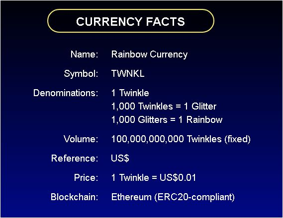 Rainbow Currency, THE HOTTEST ICO IN 2017, ICO, Twinkle