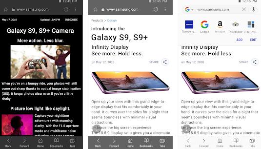 سامسونج تطلق إصدارًا آخر من متصفح الجوال التابع لها Samsung Internet