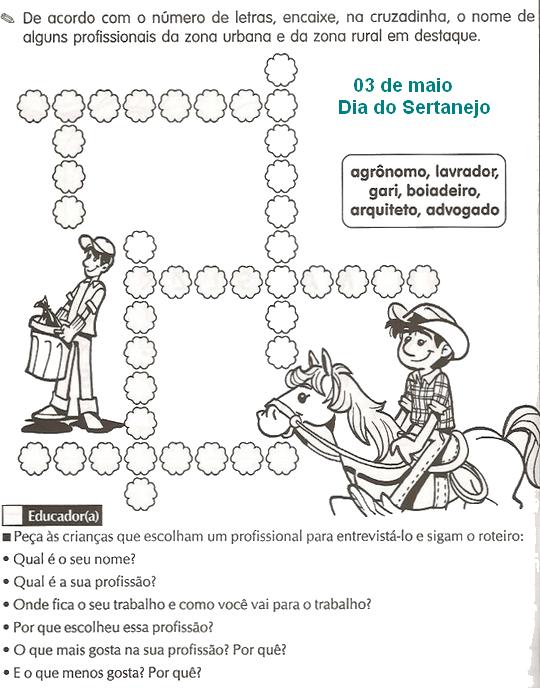 Dia Do Sertanejo Atividades E Desenhos Para Colorir 03 De Maio