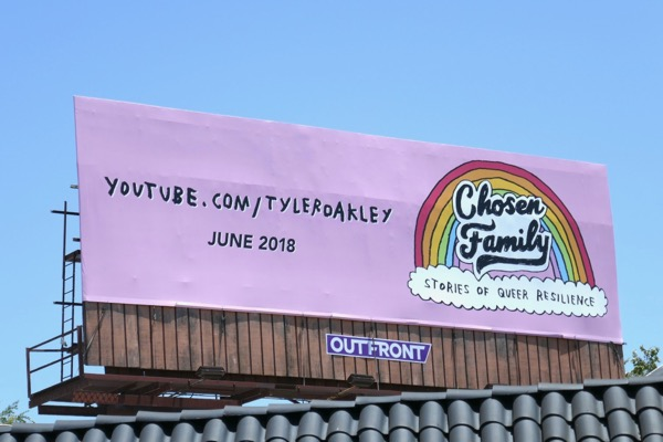 Tyler Oakley Chosen Families YouTube billboard