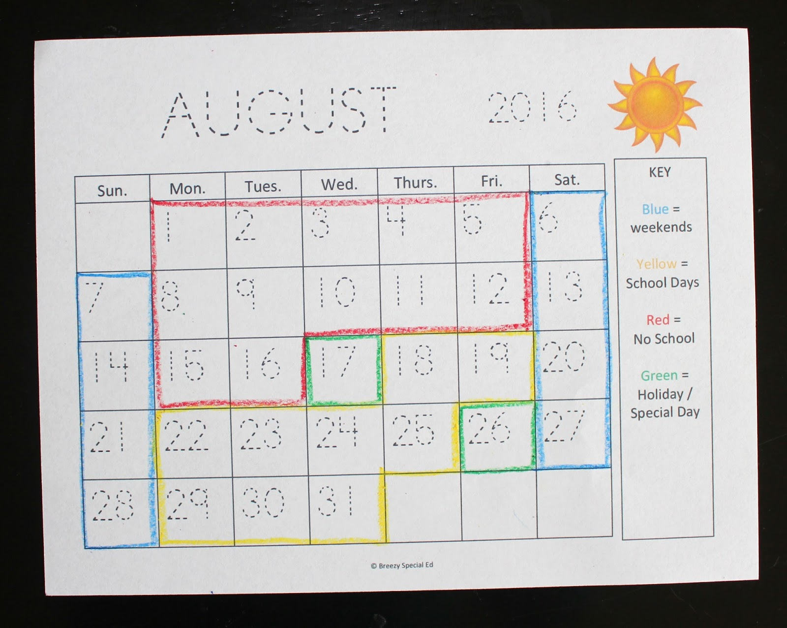 Color coded calendar visual color coded calendars for for Color coded calendar template