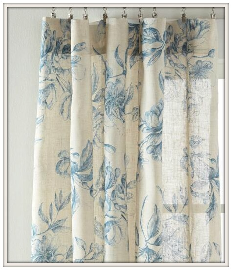 Master Bedroom-New House-Makeover-Blue Floral Curtains-Country Curtains-From My Front Porch To Yours