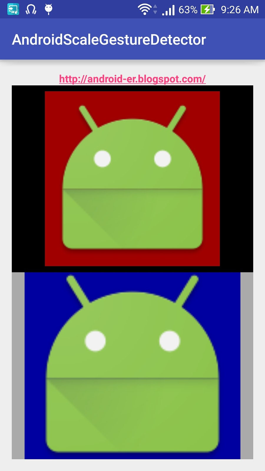 Android er implement scalegesturedetector on individual imageview - Er finestra android ...