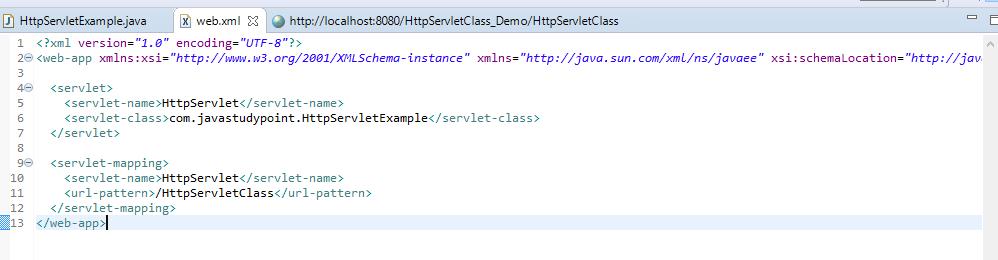 HttpServlet Class in Servlet