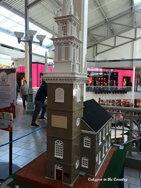 Lego model of Old North Church in Boston